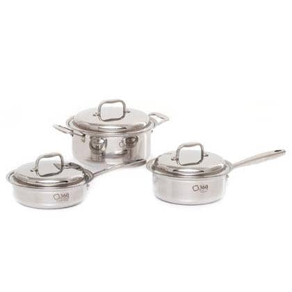 6 Piece Stainless Steel Cookware Set 1