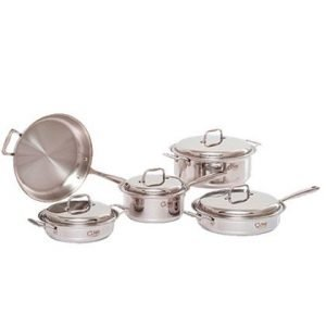 9 Piece Stainless Steel Cookware Set 1