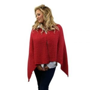 convertible alpaca shawl capes and wraps neafp scarlet red 517240 large