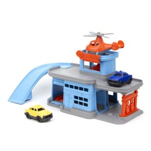 Green Toys Parking Garage with 3 Vehicles - American Made Products