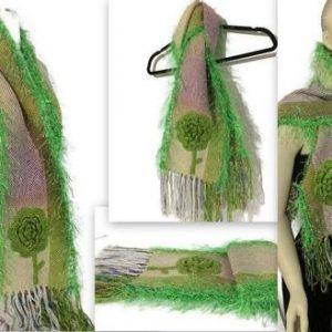 fiber art woven scarf the green dropship andrea wagner 165412 large