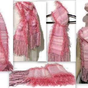 fiber art woven scarf the pink dropship andrea wagner 415795 large
