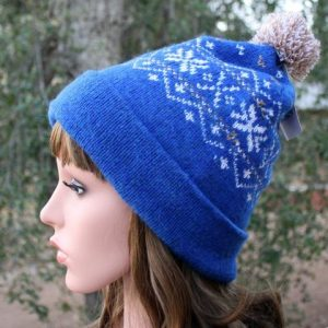 snowflake pom pom alpaca hat dyed hat neafp egyptian blue 840519 large