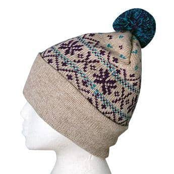 Snowflake Pom-Pom Alpaca Hat - American Made Products