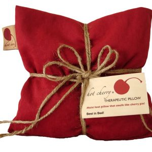 Hot Cherry Red Denim Square Pillow - American Made Products
