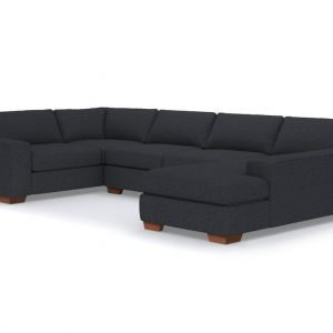 Melrose 3pc Sectional Main Pecan Charcoal 1194x