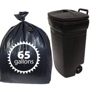 Primode Plastic 65 Gallon Trash Bags 11