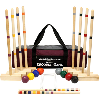 8 Player Croquet Set with Duffel Carry Bag Made in USA