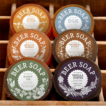 All Natural Beer Soap 6 Pack Made in USA