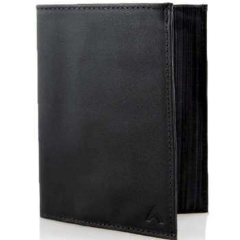 Allett Nappa Leather Original Slim Wallet Black Bifold Made In USA
