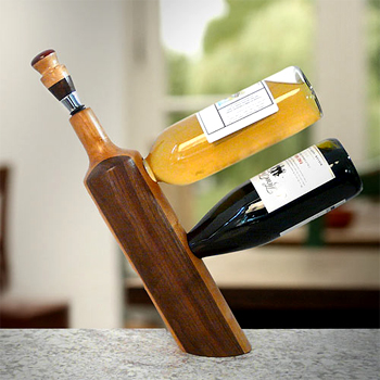 Balancing Double Wine Bottle Stand Made in USA