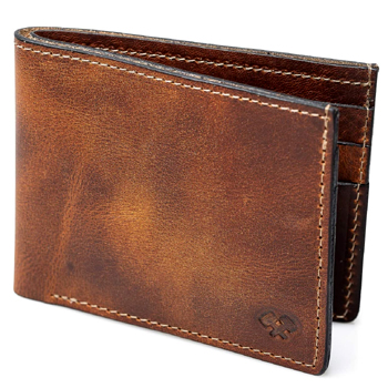 Bifold Leather Wallet For Men Made in USA