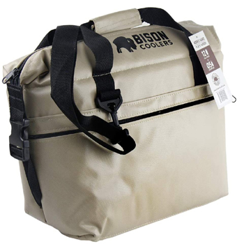 Bison Soft Sided Insulated 12 Can Cooler Bag Made in USA