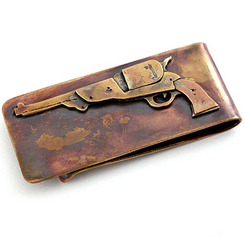 Bronze Revolver Money Clip Made in USA