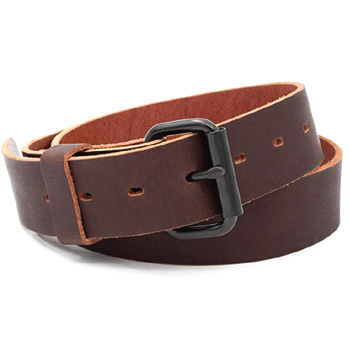 Classic Mens Leather Everyday Belt Made in USA