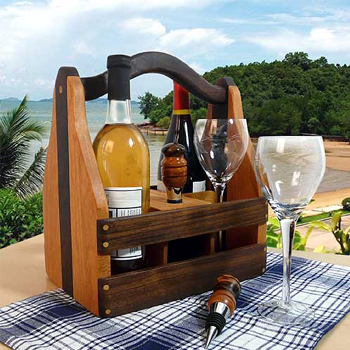 Convertible Wine and Beer Caddy American Made