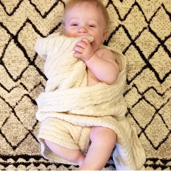 Cozy Alpaca Baby Blanket American Made