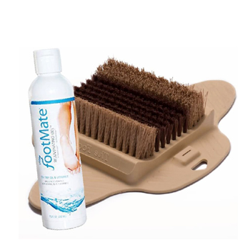Foot Brush Scrubber with Rejuvenating Gel American Made