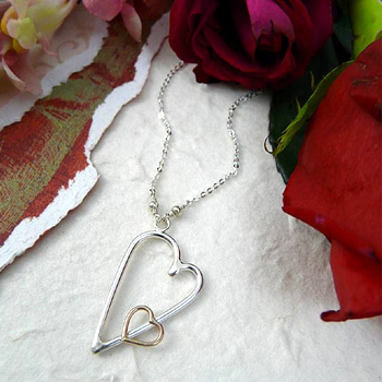 Hearts Embraced Necklace Made in USA