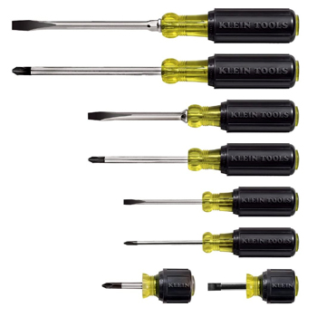 Klein Tools 8 Piece Screwdriver Set American Made