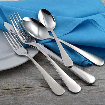 Liberty Tabletop Satin Annapolis 20 Piece Flatware Set American Made