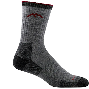 Mens Hiker Micro Crew Cushion Sock Made in USA
