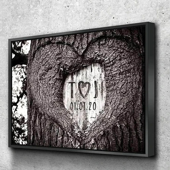 Personalized Carved Love Canvas American Made