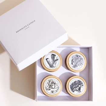 Pick 4 Gold Travel Candles Boxed Set Made in USA