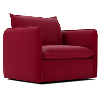 Ruby Velvey Hailey King Chair Made in USA