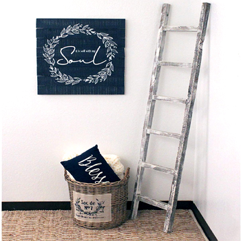 Rustic Farmhouse Decorative 6ft Ladder Made in USA