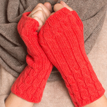The Cabled Cashmere Armwarmers Made in USA