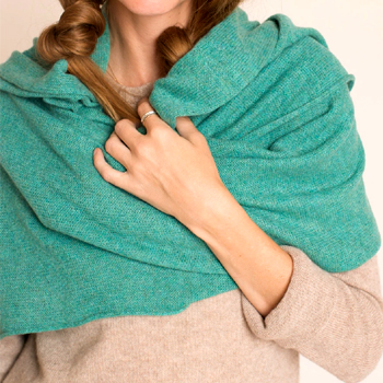 The Long Cashmere Wrap Made in USA