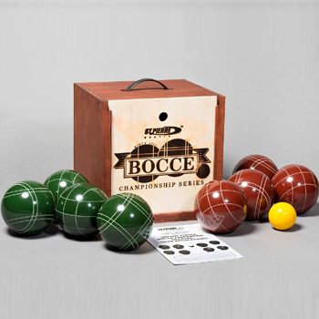 Tournament Bocce Set in Wood Box Made in USA