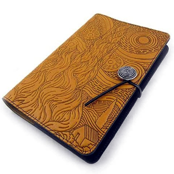 Van Gogh Sky Embossed Leather Journal American Made