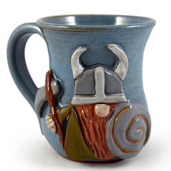 Viking Sculpted Stoneware Mug Made in USA