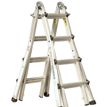 Vulcan Multi Task 17 FT Stepladder Made in USA