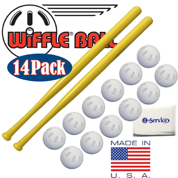 Wiffle Ball 14 Pack Set Made in USA