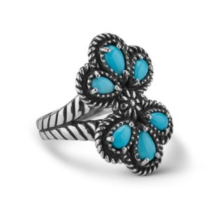 1 43622 FS American West Sleeping Beauty Turquoise Cluster Ring