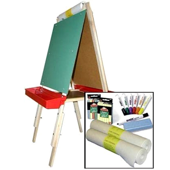 Adjustable Double Sided Easel with Supplies American Made