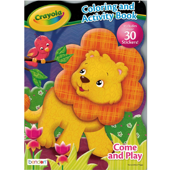 Crayola Coloring and Activity Boook with 30 Stickers American Made