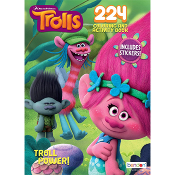 Dreamworks Trolls Troll Power 224 Page Coloring and Activity Book with stickers American Made