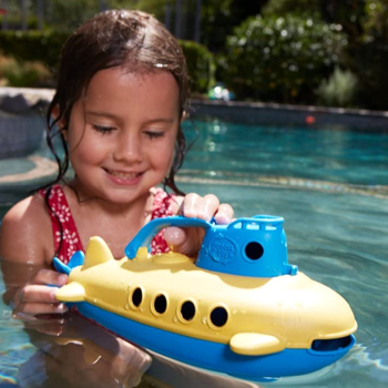 Green Toys Submarine Blue Watercraft with Spinning Rear Propeller American Made