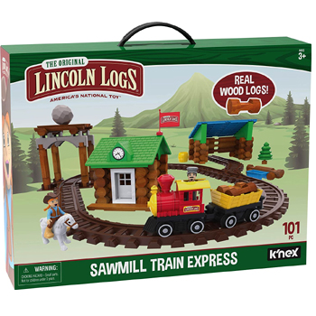 Lincoln Logs Sawmill Express Train 101 Parts American Made