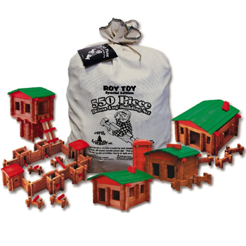 Roy Toy 550 Pc. Deluxe Building Set American Made