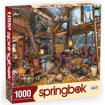 The Hunting Lodge 1000 Piece Jigsaw Puzzle American Made